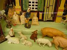 Antiker, originaler Bauernhof, um 1890, Antique TOY FARM dated about 1890
