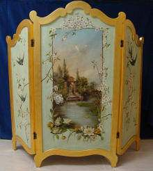 Antiker Paravent, Paris, Frankreich, antique Folding-Screen