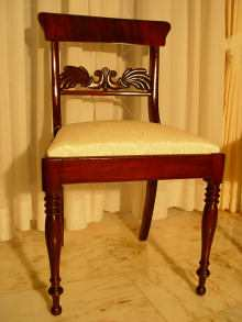 1 Biedermeier Stuhl, chair, Biedermeier