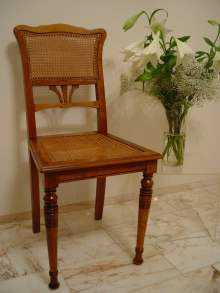 Jugendstil. Antiker Stuhl, um 1910, Nussbaum-Holz. Deutschland. Art Nouveau. Antique CHAIR, dated about 1910, walnut wood. German.