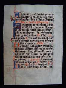 MEDIEVAL Manuscript dated about 1300 A.D. Northern France.
